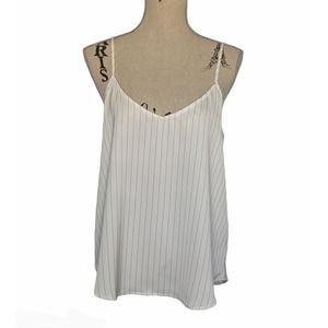 Mod Ref Pinstripe Camisole White & Black Large